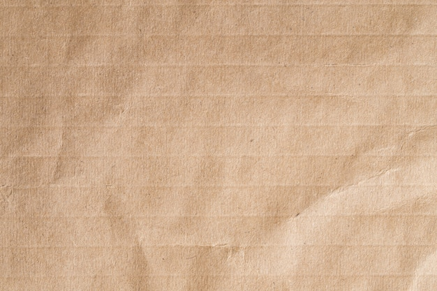 Recycleer bruine papieren verfrommelde textuur, oud papier oppervlak