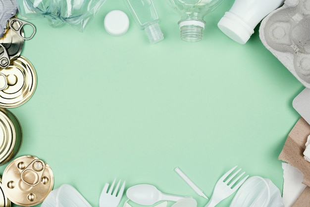 Recycling concept bovenaanzicht