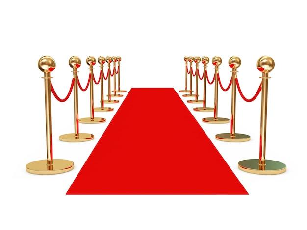 Red carpet geïsoleerd