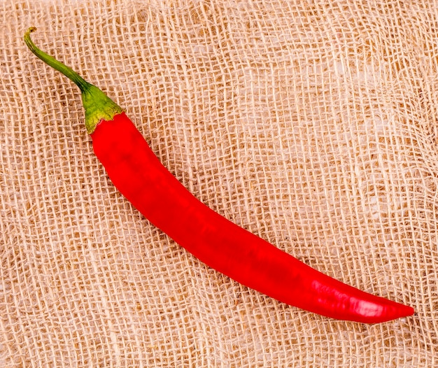 Red hot chili peper op zak on