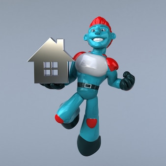 Red robot - 3d karakter