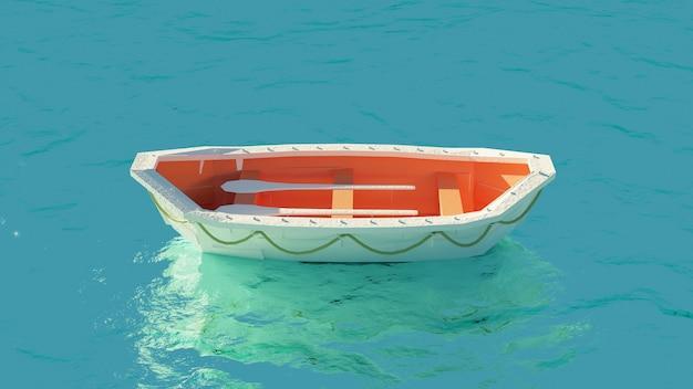 Reddingsboot midden op zee
