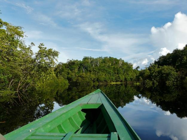 Reflecties van de amazone-rivier, brazilië