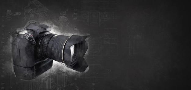 Reflexcamera op witte achtergrond