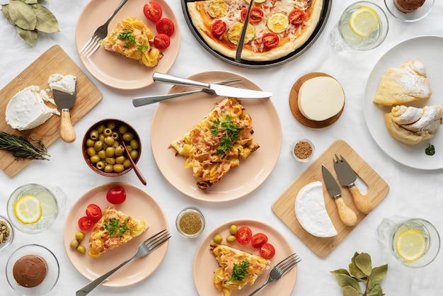 Regeling met lekker eten boven weergave