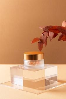 Regeling met make-up container