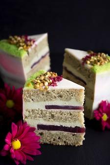 Regeling met plakjes cake