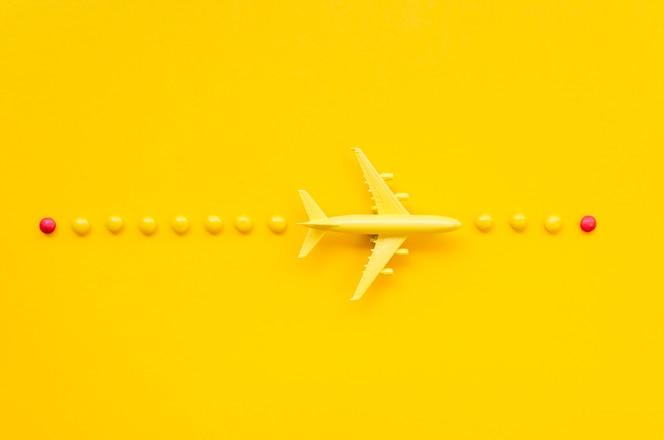 regeling met vliegtuig en snoep