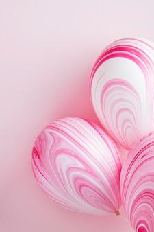 Regeling van abstracte roze ballonnen
