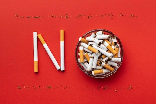 Regeling van dagelementen zonder tabak