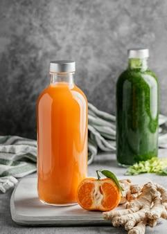 Regeling van gezonde dranken in glazen flessen