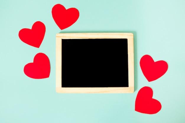 Regeling van harten en schoolbord
