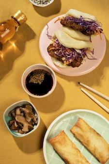 Regeling van heerlijk aziatisch eten