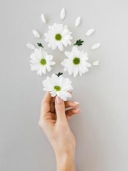 Regeling van optimisme concept met bloemen