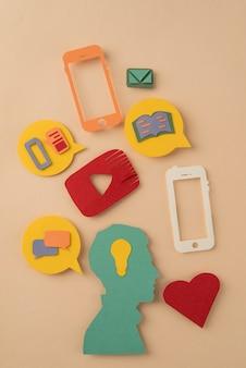 Regeling van sociale media-symbolen