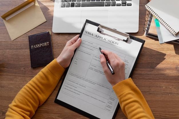 Regeling voor platliggende visumaanvraag