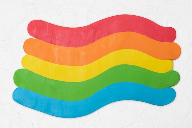 Regenboog droge klei getextureerde kleurrijke grafische creatieve ambacht voor kinderen