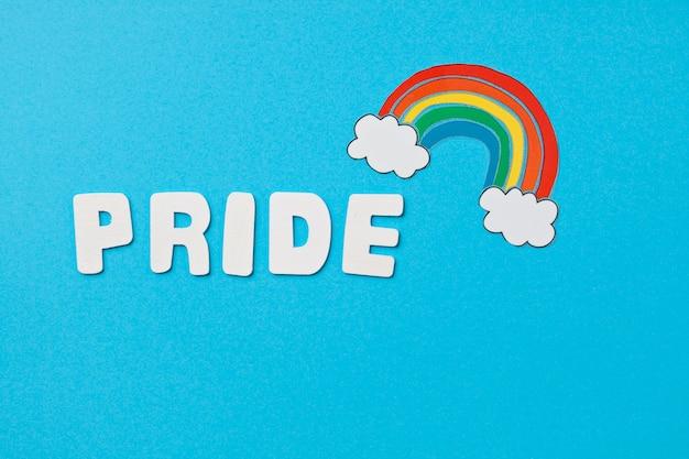 Regenboog kleur strepen symbool van lgbt gay pride. ruimte kopiëren