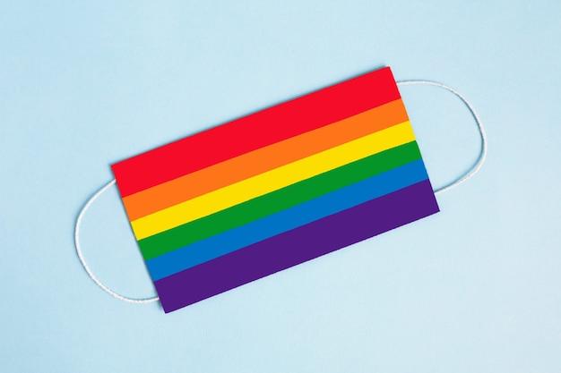 Regenboog kleurrijk gezichtsmasker
