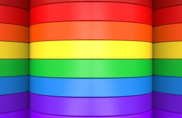 Regenboog kleurrijke lgbt curve paneel achtergrond