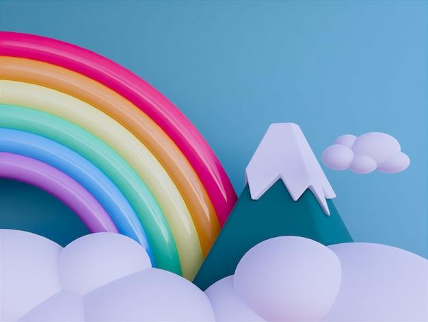 Regenboog met skyscape achtergrond