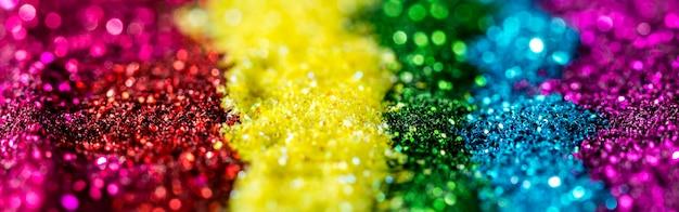 Regenboog reflecterende glitter