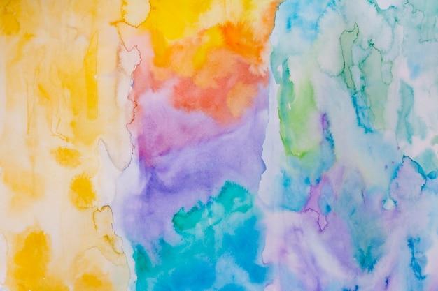 Regenboogpalet van de achtergrond van de waterverfverf