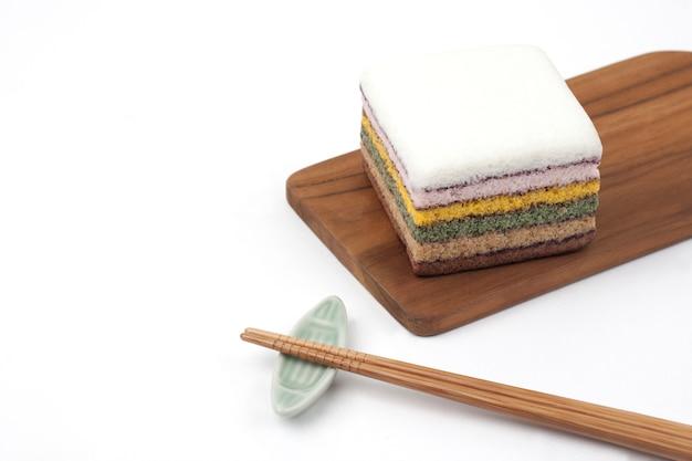 Regenboogrijst cake-koreaans traditioneel voedsel
