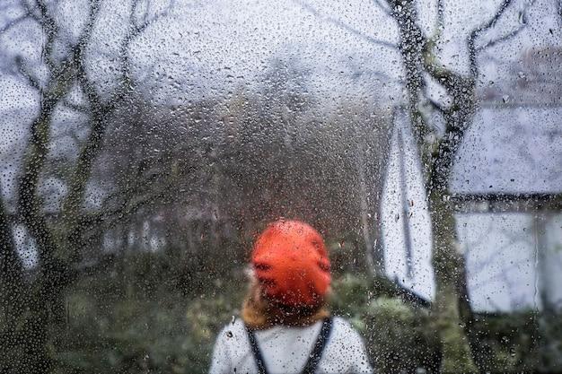 Regeneffect op aardachtergrond