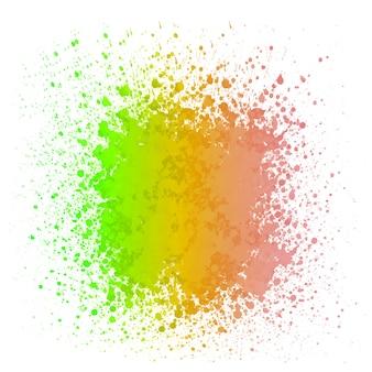 Reggae kleur met aquarel splash achtergrond