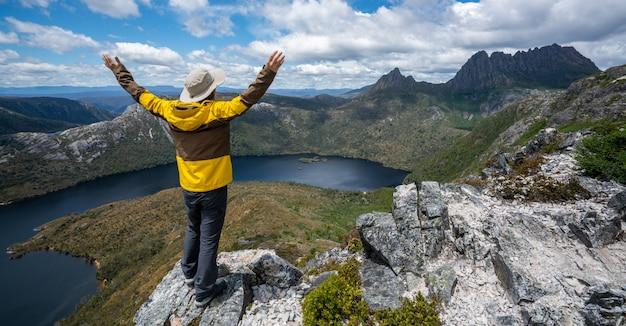 Reis in cradle mountain np, tasmanië, australië