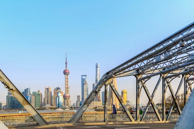 Reis kleur zonnige blauwe hemel mooie cityscape