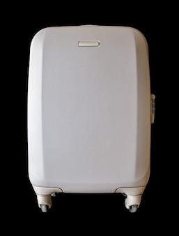 Reis moderne koffer geïsoleerd op zwart