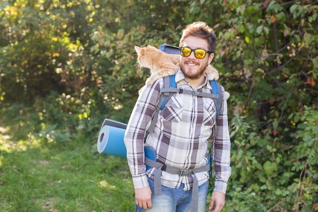 Reisavonturen wandelen toerisme en natuurconcept