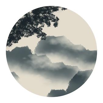 Reisrotsen wolken draagbomen