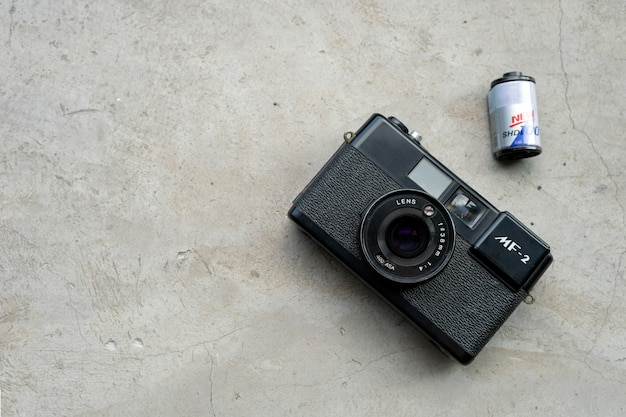 Reizen concept. met oude camerafilms