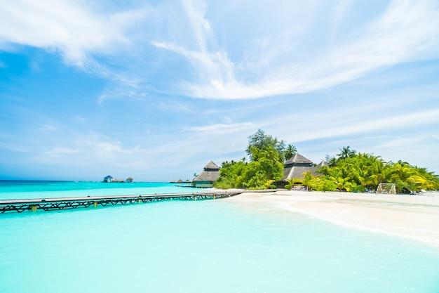 Reizen mooie blauwe huis ontspanning