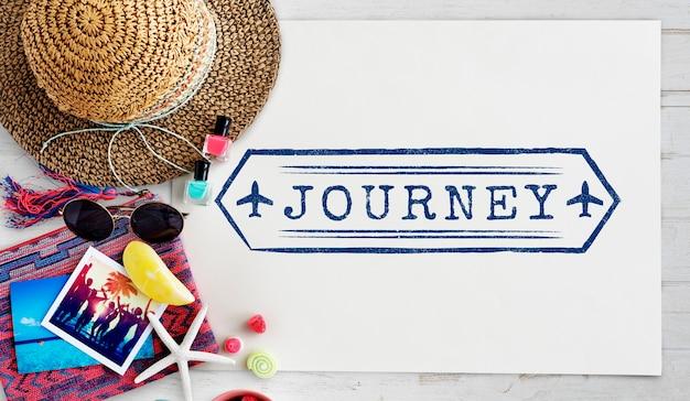Reizen navigatie reis vakantie reis concept