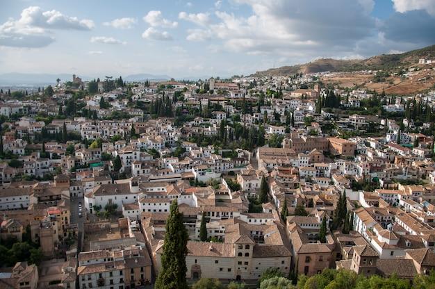 Reizen plaatst granada landschap stad