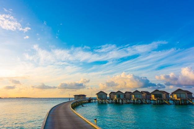 Reizen zonsopgang idyllische ontspannen natuurlijke