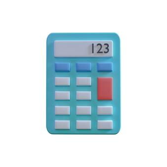 Rekenmachine 3d illustratie geïsoleerd op een witte achtergrond. boekhoudconcept met 3d-calculatorillustratie