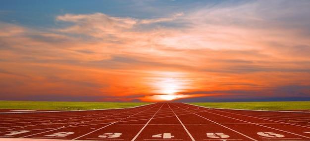 Renbaan voor de atleten, atletiekbaan of atletiekbaan