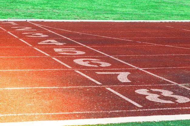 Renbaan voor de atleten