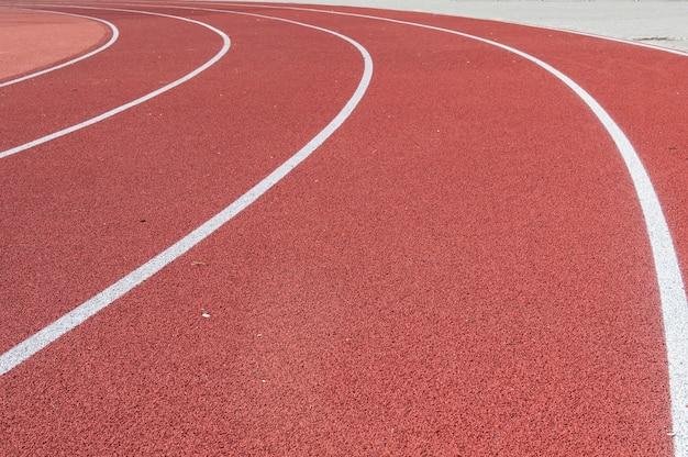 Renbaan voor het atletenlandschap