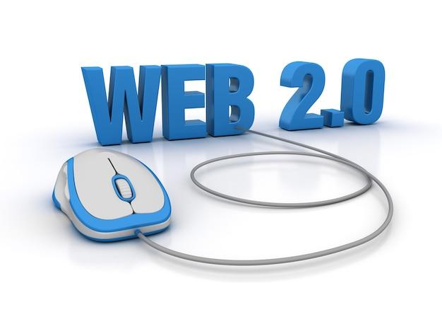 Rendering illustratie van web word met computermuis