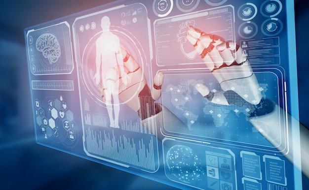 Rendering medische kunstmatige intelligentie robot