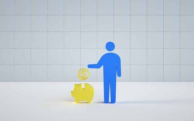 Rendering model van illustratie bespaart geld
