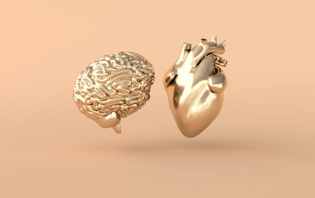 Rendering van hart en hersenen