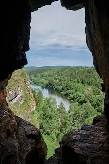 Republiek basjkirostan, rivieren, zomer idrisovskaya grot.