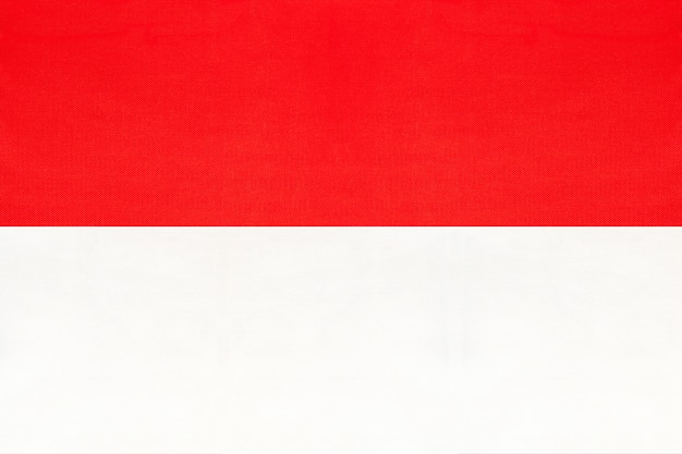 Republiek indonesië nationale stof vlag